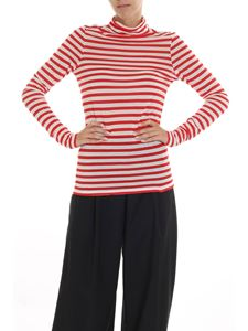 Semicouture - Red and white striped turtleneck