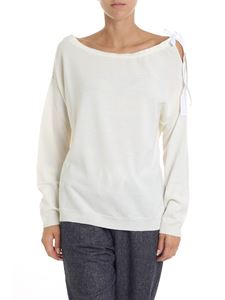 Semicouture - White pullover with cut-out