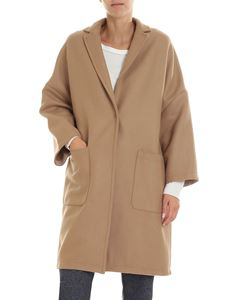 Semicouture - Tobacco-colored overfit coat
