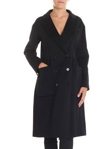 Aspesi - Black wool double-breasted coat