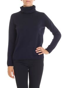 Aspesi - Relaxed fit blue wool turtleneck sweater