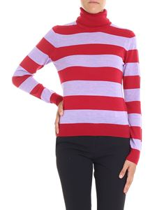 Stella Jean - Red and lilac striped turtleneck