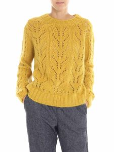 Semicouture - Mustard yellow knitted pullover