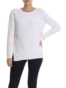 Ermanno by Ermanno Scervino - Cream-colored pullover with lace insert