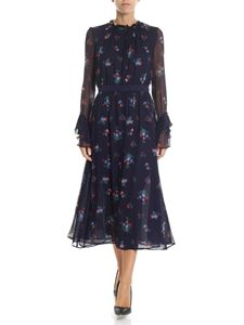 Pinko - Blue Nastro dress with multicolor floral print