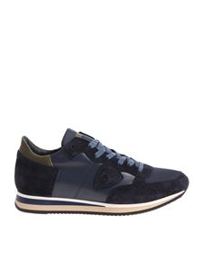 """Philippe Model - Blue and green """"Tropez L"""" sneakers"""