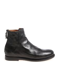Silvano Sassetti - Black ankle boots with zip