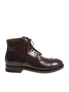 Silvano Sassetti - Brown ankle boots with stitching