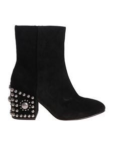 Ash - Black Era ankle boots with metal inserts