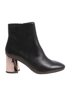 Ash - Black Harlem ankle boots with silver heel
