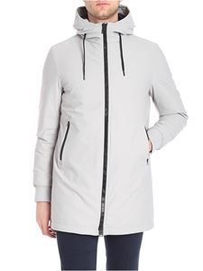 Herno - Light grey hooded down jacket