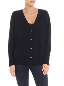 Fabiana Filippi - Dark blue cardigan with pockets