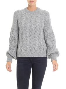Moncler - Grey and silver crew neck pullover