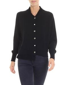 Ballantyne - Black crewneck cardigan