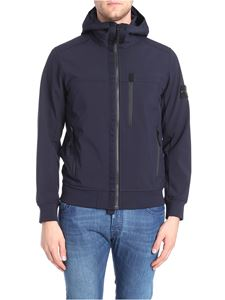 Stone Island - Blue hooded jacket
