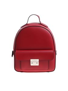 Emporio Armani - Red backpack with black edges