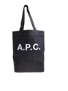 "A.P.C. - ""Cabas Axelle"" blue denim bag"