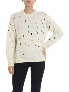 Kenzo - Cream color pullover with rhinestones inserts
