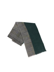 Altea - Blac white and green Prince of Wales scarf