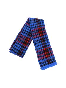 Dondup - Black red and blue checked fabric scarf
