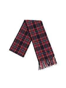 Dondup - Blue and red tartan scarf
