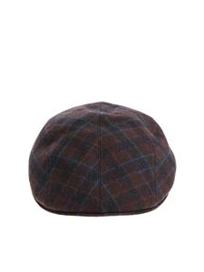 Altea - Black and brown beret with multicolor details
