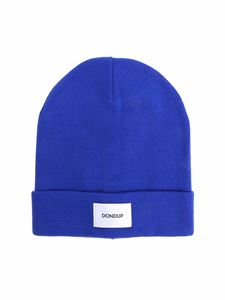 Dondup - Blue beanie with logo
