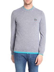 Kenzo - Crew neck pullover with logo embroidery