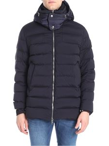 Moncler - Blue quilted Mathieu down jacket
