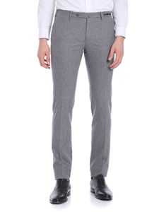 PT01 - Grey melange stretch virgin wool trousers