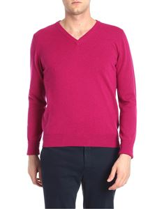Ballantyne - Cyclamen color cashmere pullover