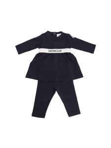 Moncler Jr - Blue jumpsuit with logo