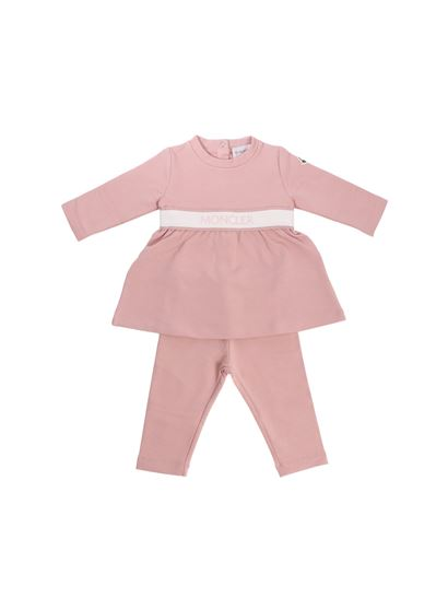 6e6e0749f Pink jumpsuit with logo detail