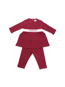 Moncler Jr - Burgundy set with front logo