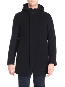 Herno - Black padded wool coat