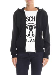 Moschino Boutique - Black and white sweatshirt with zip