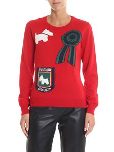 Moschino Boutique - Red pullover with front inlays