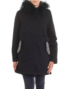 MASON'S - Versilia W black padded hooded parka jacket
