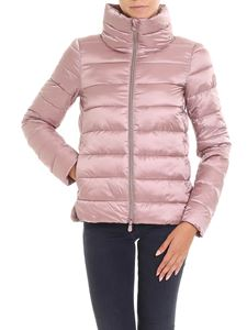 Save the duck - Pink padded jacket with high collar
