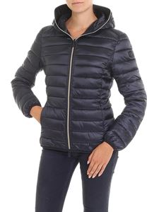 Save the duck - Black padded hooded jacket