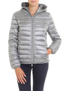 Save the duck - Grey padded hooded jacket