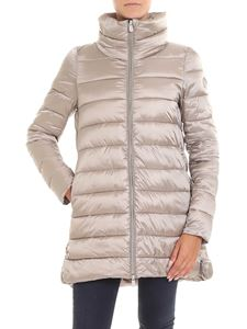 Save the duck - Beige padded jacket with crater collar