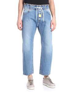 MSGM - Blue jeans with drawstring