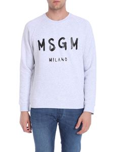 MSGM - Printed grey sweatshirt
