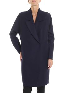 Harris Wharf London - Blue double-breasted overfit coat
