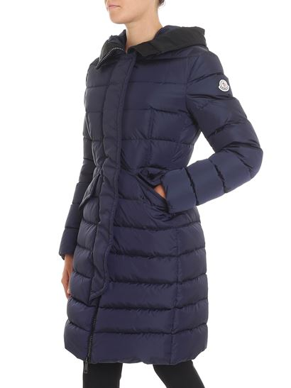 Moncler - Blue Grive long quilted down jacket