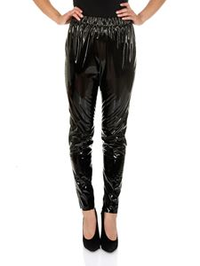 MSGM - Leggings in eco-pelle nera