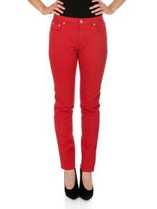 MSGM - Red cotton 5-pocket jeans