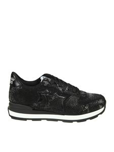 Atlantic Stars - Black Vega sneakers with lurex inserts