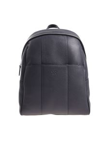 Canali - Blue backpack in textured leather
